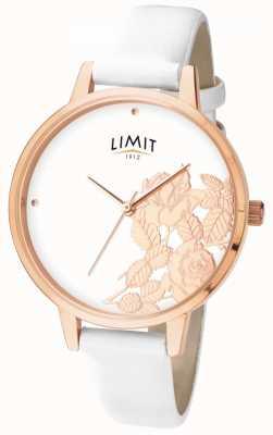 Limit Platte wijzerplaat met witte bloemen 6290.73