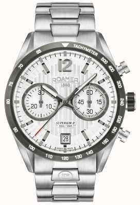 Roamer Heren superieure chrono ii zilveren armband horloge 510902411450