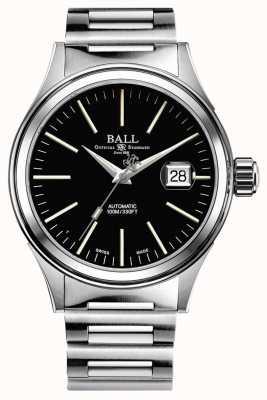 Ball Watch Company Brandweerman automatische 40 mm vergrote datum zwarte wijzerplaat NM2188C-S5J-BK
