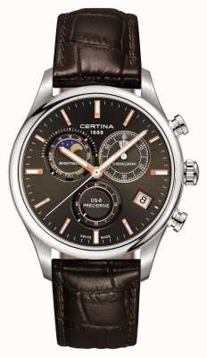 Certina Mens ds-8 precidrive moonphase chronograph watch C0334501608100