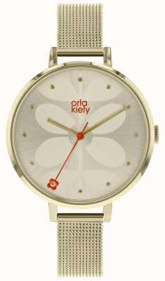 Orla Kiely Grote zonnekleurige zonnekleurige wijzerplaat van vrouwen OK4062