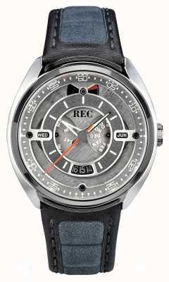 REC Porsche automatische grijze alcantara lederen band grijze wijzerplaat p-901-01