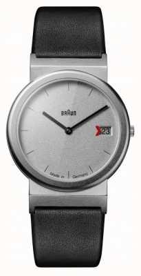 Braun Classic 1989 tribute design zwart lederen band grijs AW50