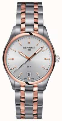 Certina Mens DS-4 tweekleurig quartz horloge C0224102203100