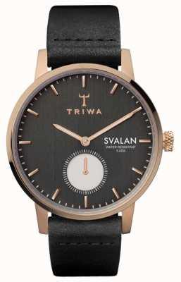 Triwa Noir svalan zwart klassiek super slank SVST101-SS010114