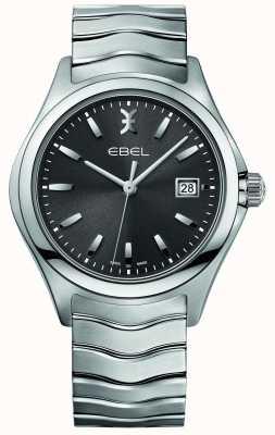 EBEL Mens wave roestvrij stalen armband grijze wijzerplaat 1216239