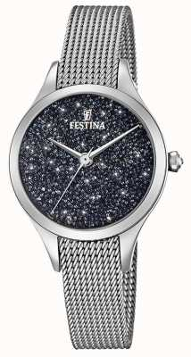 Festina Dameshorloge met swarovski kristallen mesh armband F20336/3