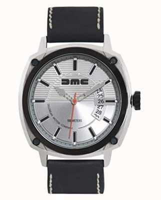 DeLorean Motor Company Watches Alfa dmc zilveren heren wijzerplaat zwart lederen band DMC-3