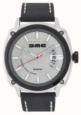 DeLorean Motor Company Watches Alfa dmc zilveren heren wijzerplaat zwart lederen band DMC-3