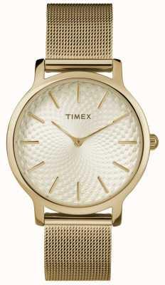 Timex 34mm gouden netwerkarmband / gouden wijzerplaat TW2R36100