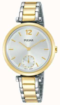 Pulsar Dames two tone roestvrij stalen armband zilveren armband PN4064X1