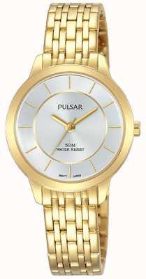 Pulsar Gouden vergulde roestvrijstalen armband van vrouwen 50 m weerstand PH8370X1