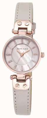 Anne Klein Womens lynn horloge stijgt met gouden kast lederen band AK/N1950RGTP