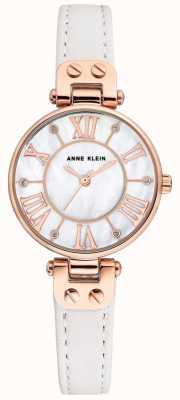 Anne Klein Womens jane horloge rosé gouden kast lederen band AK/N2718RGWT