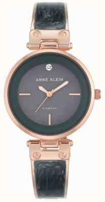Anne Klein Dames amanda rosé gouden kast grijze wijzerplaat AK/N2512GYRG