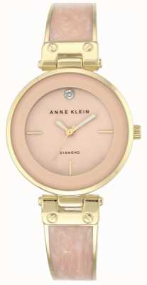 Anne Klein Dames Amanda gouden kast roze wijzerplaat AK/N2512LPGB