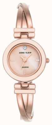 Anne Klein Womens leah rose gouden tone armband witte wijzerplaat AK/N2622WTRG