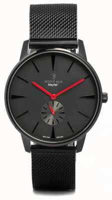 Weird Ape Mayfair helemaal zwart en rood mesh zwart WA02-005615