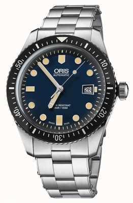 Oris Divers vijfenzestig automatische roestvrij stalen blauwe wijzerplaat 01 733 7720 4055-07 8 21 18
