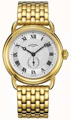 Rotary Heren Canterbury vergulde armband GB05338/21