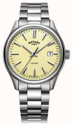 Rotary Heren oxford armband roestvrij staal GB05092/32