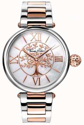 Thomas Sabo Womens glam en soul karma horloge rose goud en zilver WA0315-272-213-38