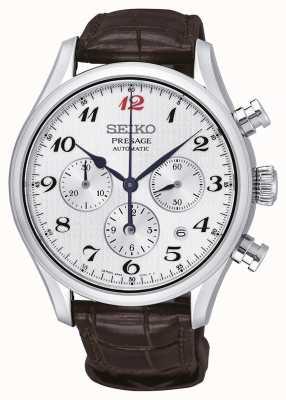 Seiko Heren presage automatische chronograaf bruine lederen band SRQ025J1
