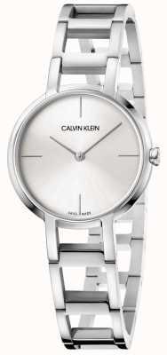 Calvin Klein Dames juichen zilveren roestvrij stalen horloge K8N23146