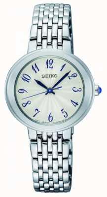 Seiko Dames zilveren quartz armband wit gezicht SRZ505P1