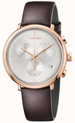 Calvin Klein Heren hoge middag rose gouden kast datumaanduiding chronograaf K8M276G6