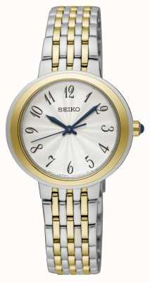 Seiko Tweekleurig dameshorloge met zilveren en gouden armband ex-display SRZ506P1EX-DISPLAY