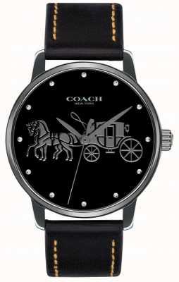 Coach Grote zwarte damescase en zwarte leren riem 14502974