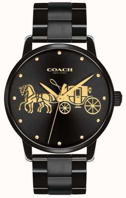 Coach Grote zwarte kast en armband van vrouwen 14502925