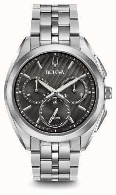 Bulova | curv | mens | chronograaf | roestvrij staal | 96A186