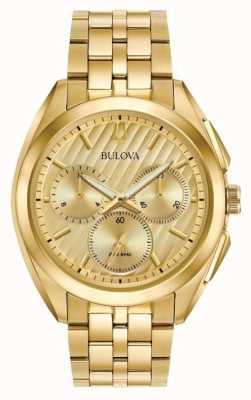 Bulova Heren curv chronograaf jurk progressief 97A125