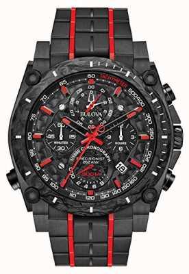 Bulova Precisionist chronograaf zwart rood uhf 98B313