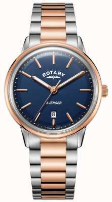 Rotary Heren avenger horloge tweekleurige armband blauwe wijzerplaat GB05342/05