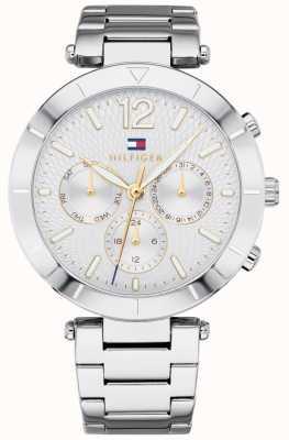 Tommy Hilfiger Womens chloe horloge dag datum zilveren toon armband 1781877