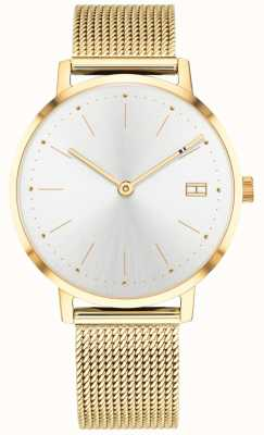 Tommy Hilfiger Womens pippa horloge goudkleurige mesh band 1781927