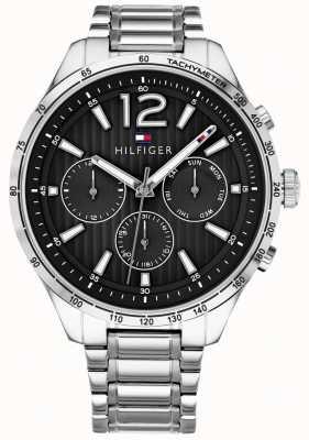 Tommy Hilfiger Heren gavin chronograaf horloge roestvrij stalen armband 1791469