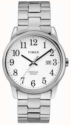 Timex Heren 38mm uitbreidbaar band roestvrij staal witte wijzerplaat TW2R58400