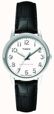 Timex Womens 30mm easy reader zwarte croc band witte wijzerplaat TW2R65300