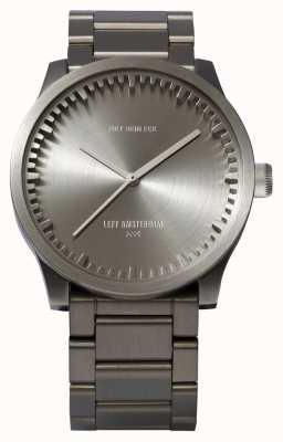 Leff Amsterdam Tube watch s38 stalen kast stalen armband LT71101
