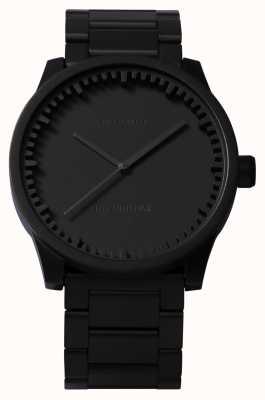 Leff Amsterdam Tube watch s38 zwarte kast zwarte armband LT71102
