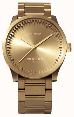 Leff Amsterdam Tube watch s42 bronskleurige messing armband LT72103
