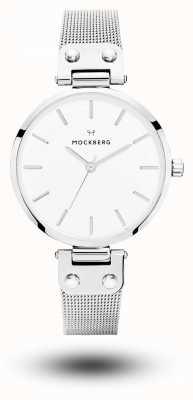 Mockberg Elise roestvrij stalen armband met witte wijzerplaat MO1602