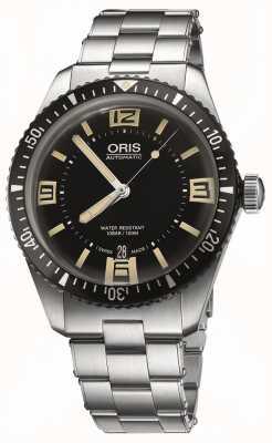 Oris Divers vijfenzestig automatische roestvrij stalen zwarte wijzerplaat 01 733 7707 4064-07 8 20 18