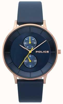 Police Heren berkeley blue lederen bandhorloge 15402JSR/03