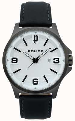 Police Heren clan zwart lederen horloge 15384JSU/04