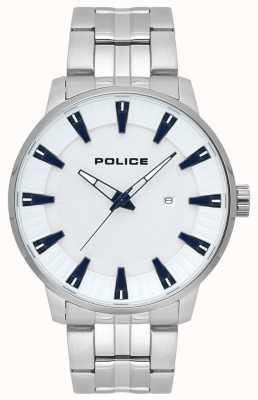 Police Heren vuursteen roestvrij stalen wijzerplaat horloge 15391JS/04M